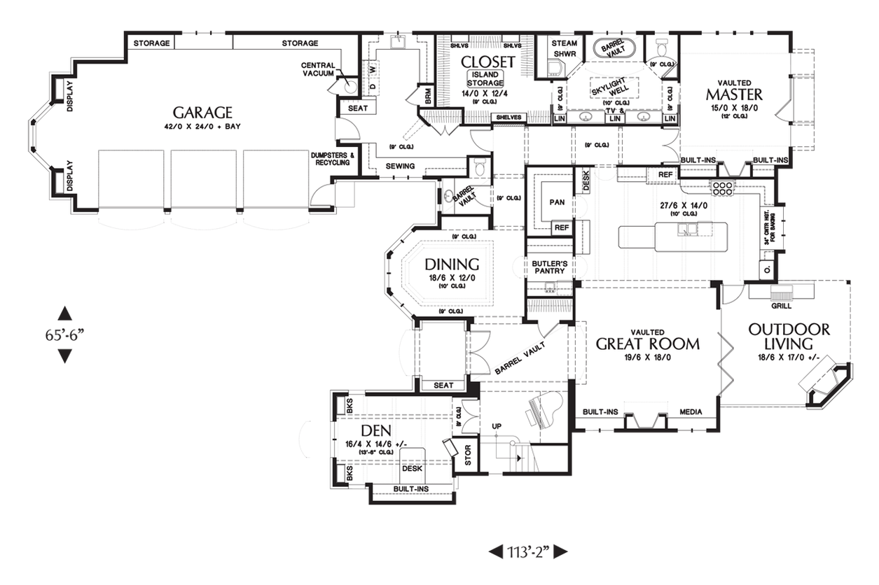 Mascord Floor Plans Part - 30: ... Alan Mascord Floor Plans House Plan 2470 The Rivendell Manor ...