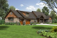 Front Rendering of Mascord House Plan 2471 - The Braecroft
