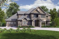 Front Rendering of Mascord House Plan 2473 - The Rutledge