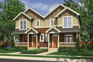 Front Rendering of Mascord House Plan 4027C - The Huntington
