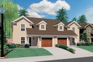 Front Rendering of Mascord House Plan 4029 - The Lambrook