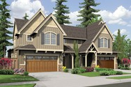 Front Rendering of Mascord House Plan 4037 - The Whitman