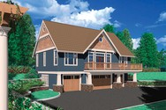 Front Rendering of Mascord House Plan 5016A - The Barnesville
