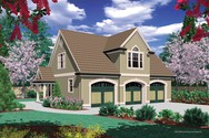 Front Rendering of Mascord House Plan 5016B - The Eastman