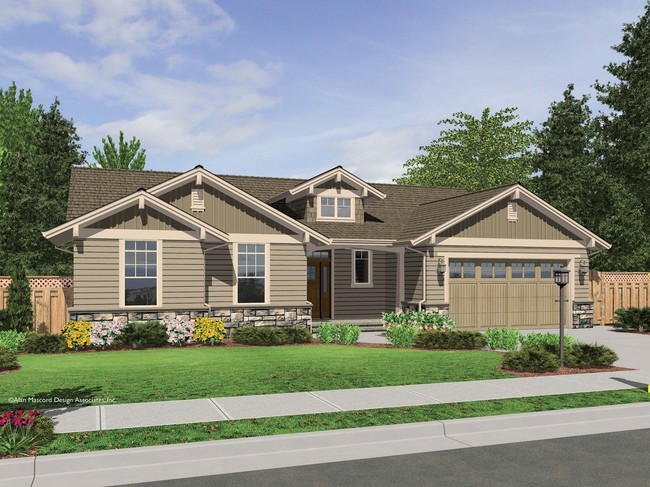 The avondale craftsman style ranch house plan with stone for Single story ranch style homes
