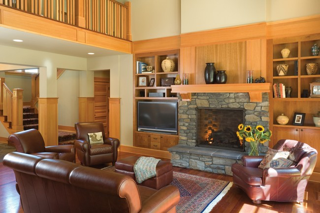 Bringing the arts crafts style into your home plan for Craftsman house plans with interior photos