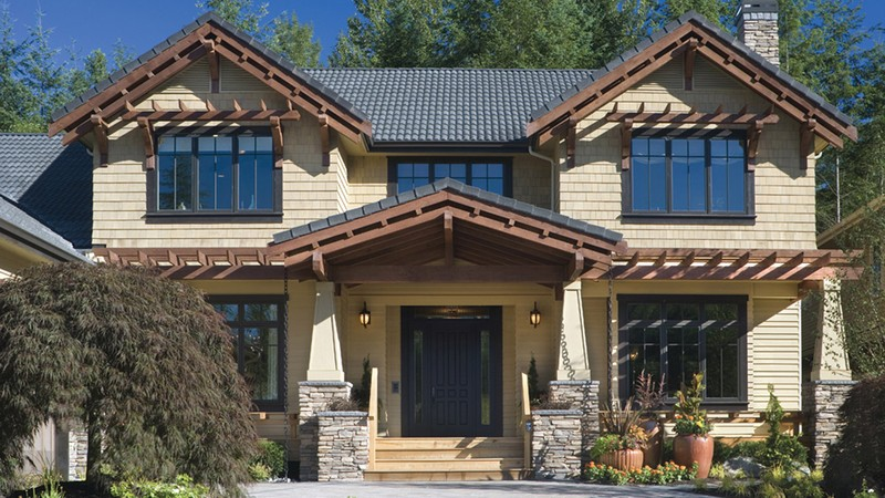Craftsman Home Plans 2458 The Copper Falls Exterior