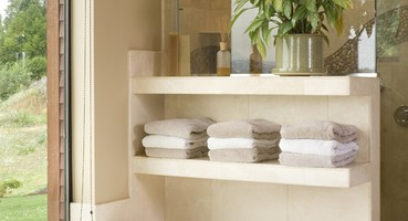 | It's All in the Details - A Killer Bathroom Shelf Design!