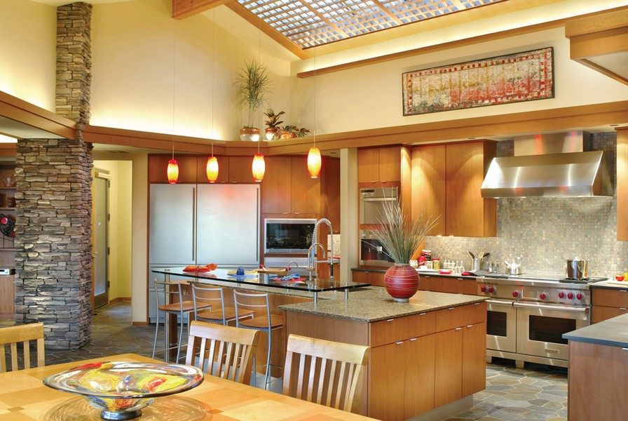 25 home plans with dream kitchen designs for Dream kitchen house plans