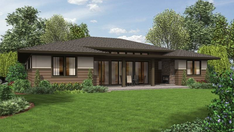 10 ranch house plans with a modern feel for Single level ranch house plans