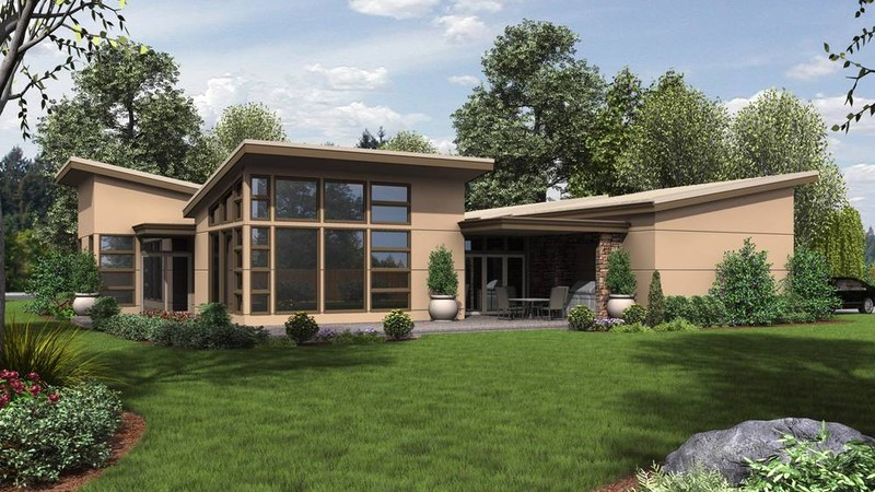 ranch house plans 1243 the hamburg - Modernist House Design