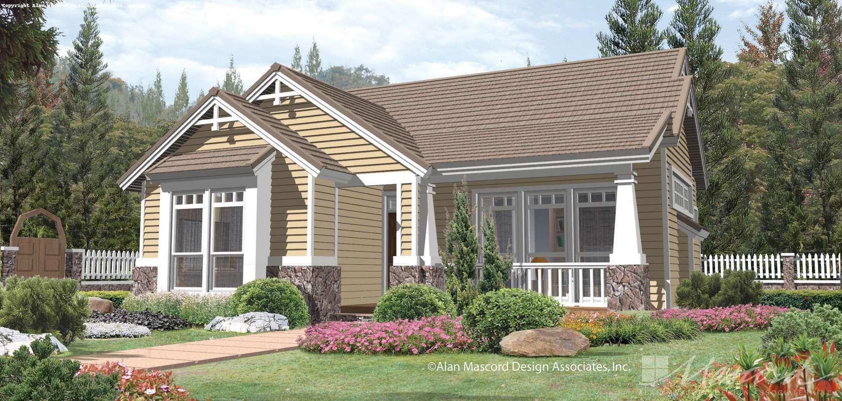 Mascord House Plan 1101: The Brogan