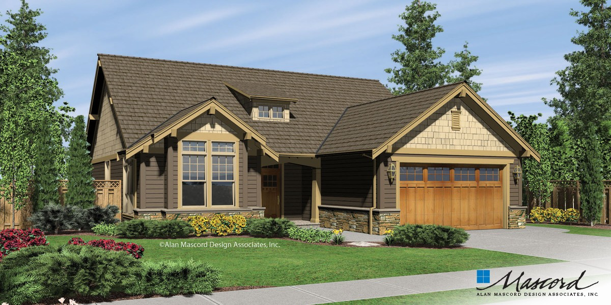 Image for Granville-Craftsman Style Cottage Plan-Front Rendering