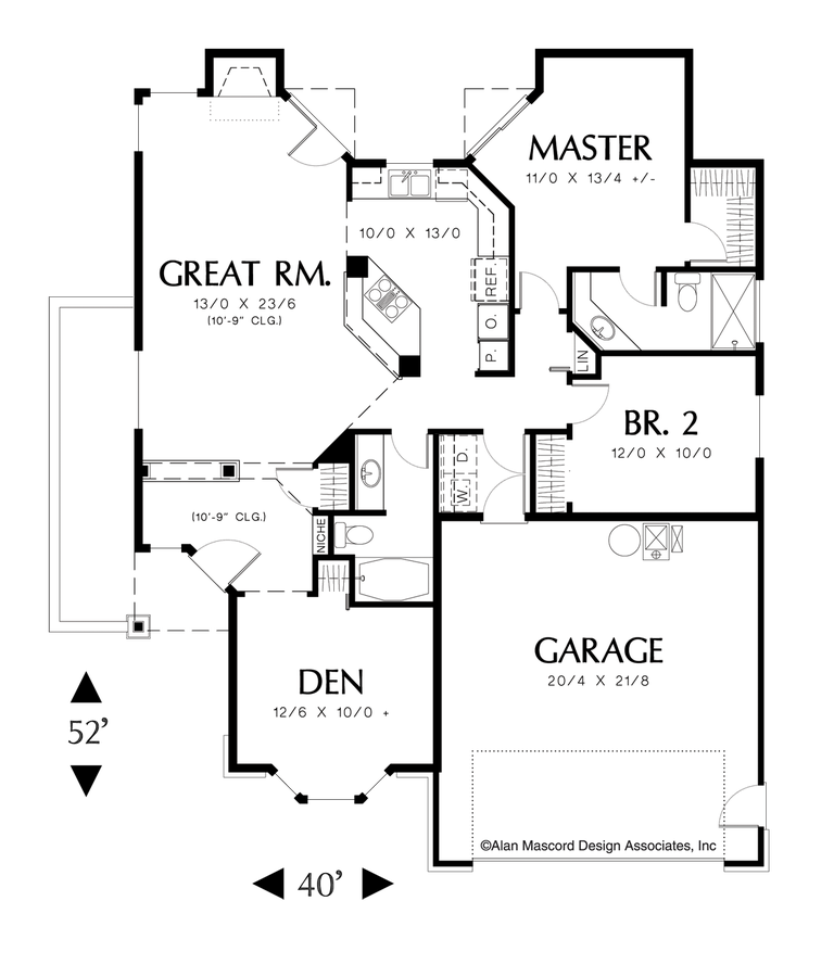 Design Homemodern House Plans: Ranch House Plan 1108A The Naylor: 1295 Sqft, 3 Beds, 2 Baths