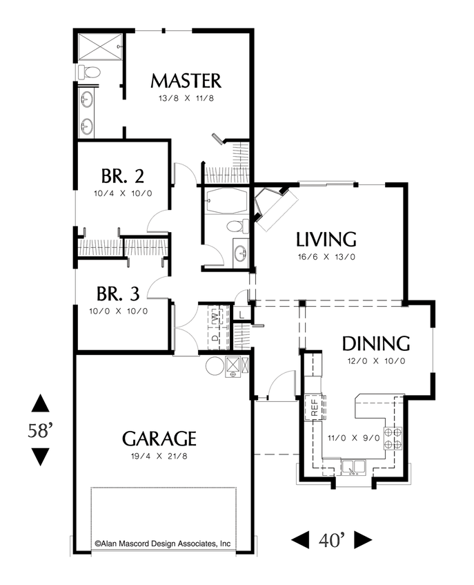 House Plan 1110 The Parker