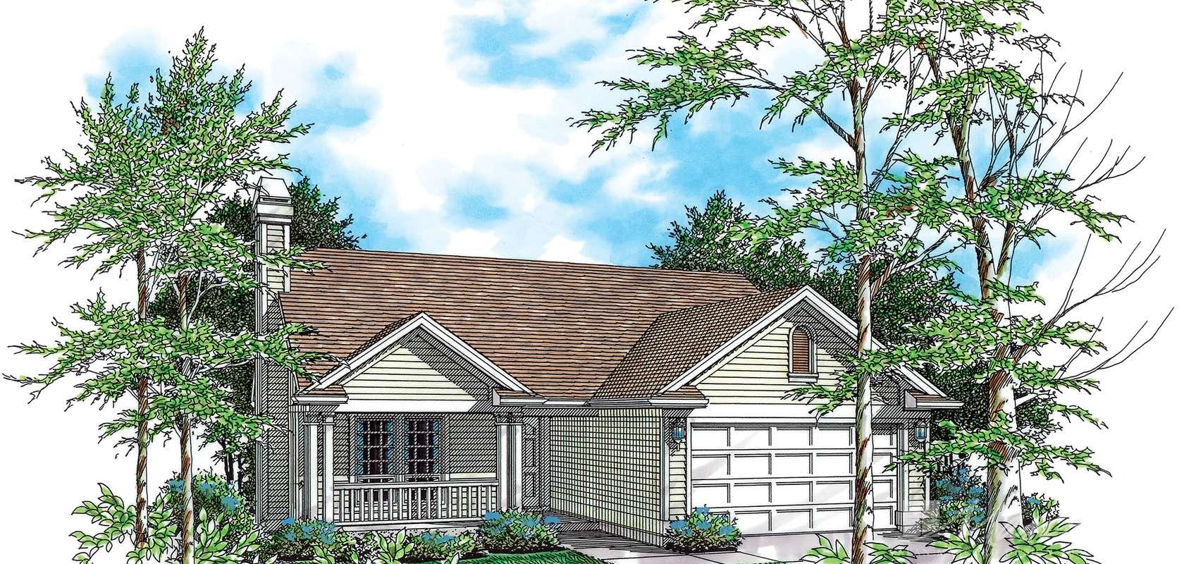Mascord House Plan 1111A: The Woodbine