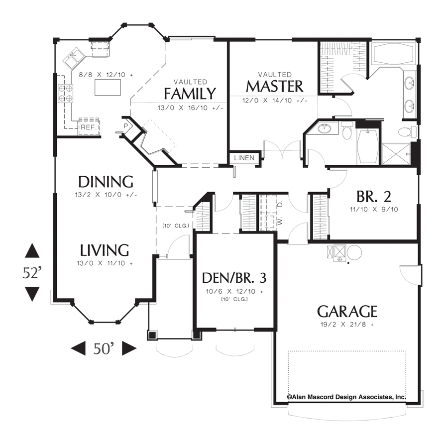 Mascord House Plan 1128f The Carter