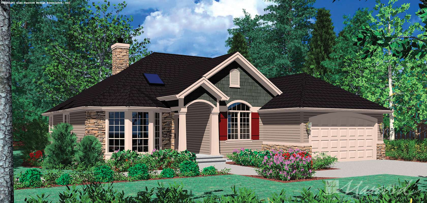 Mascord House Plan 1128F: The Carter