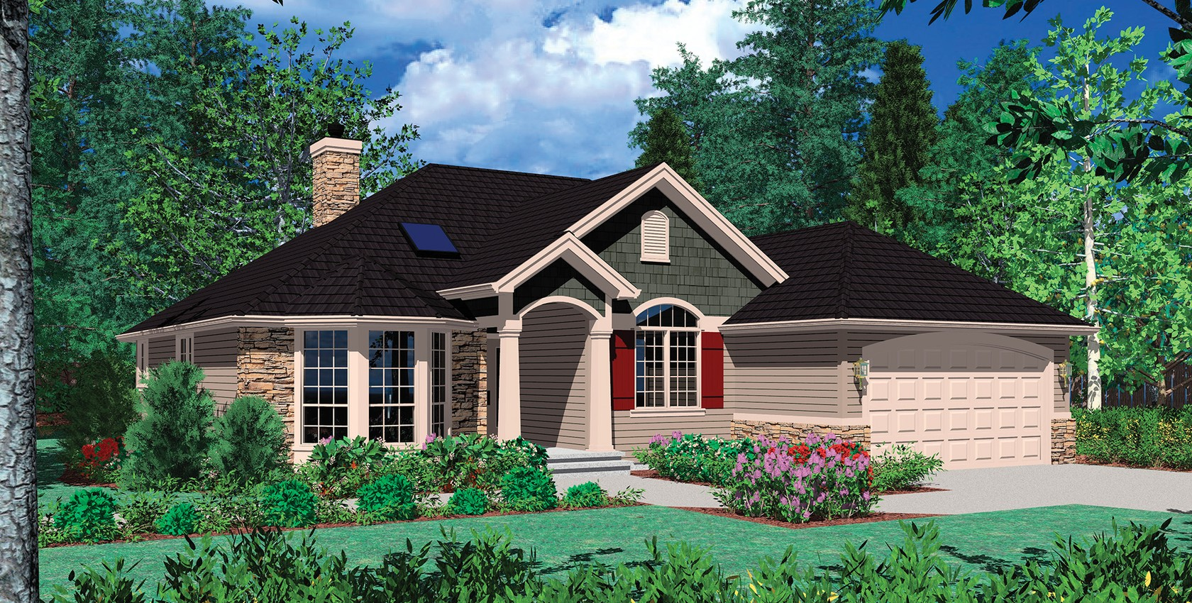 Mascord house plan 1128f the carter for Carter home designs