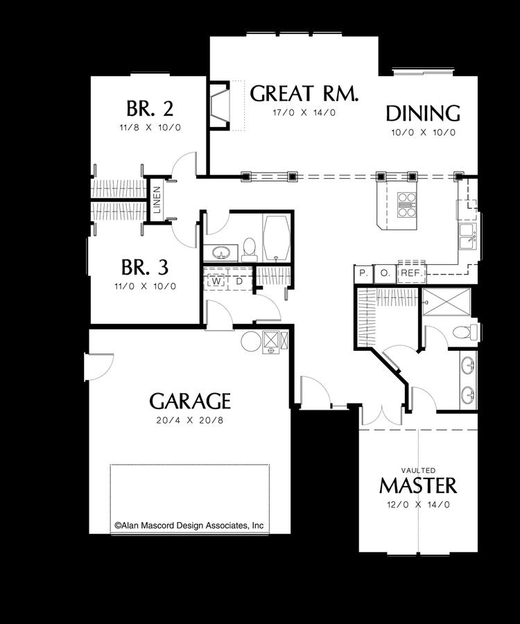Craftsman House Plan 1131 The Maddox 1463 Sqft 3 Beds 2 Baths