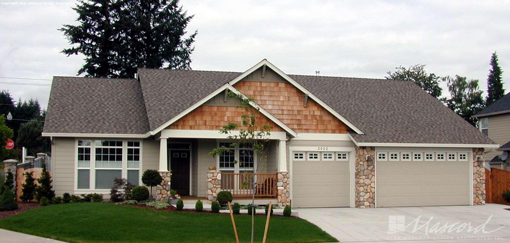 Mascord House Plan 1133C: The Blake