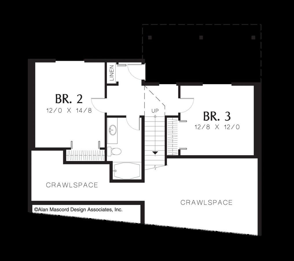mascord house plan 1136 the rosebay
