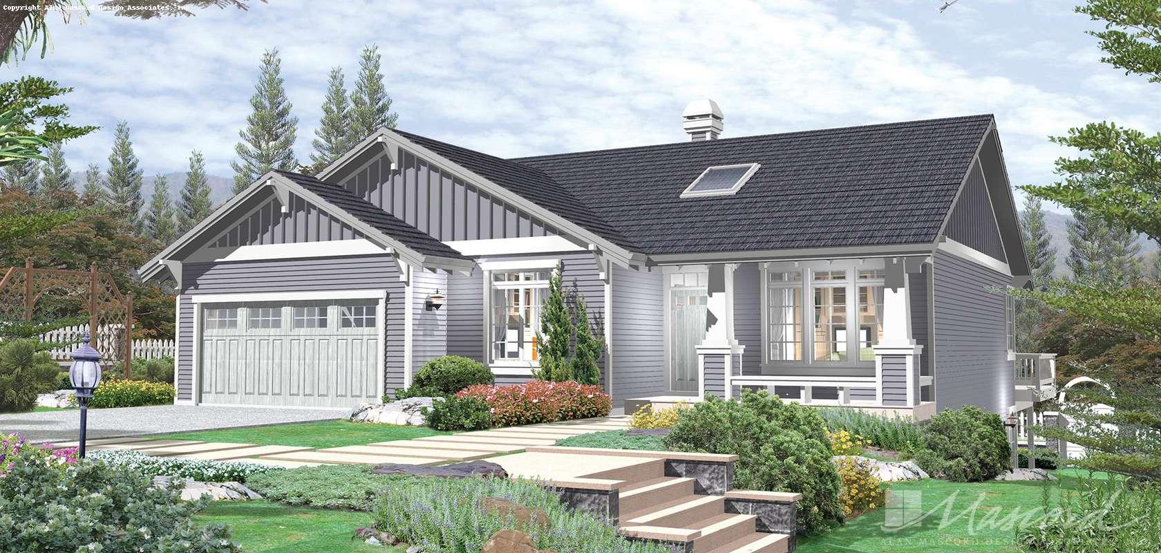 Mascord House Plan 1137: The Summerwood