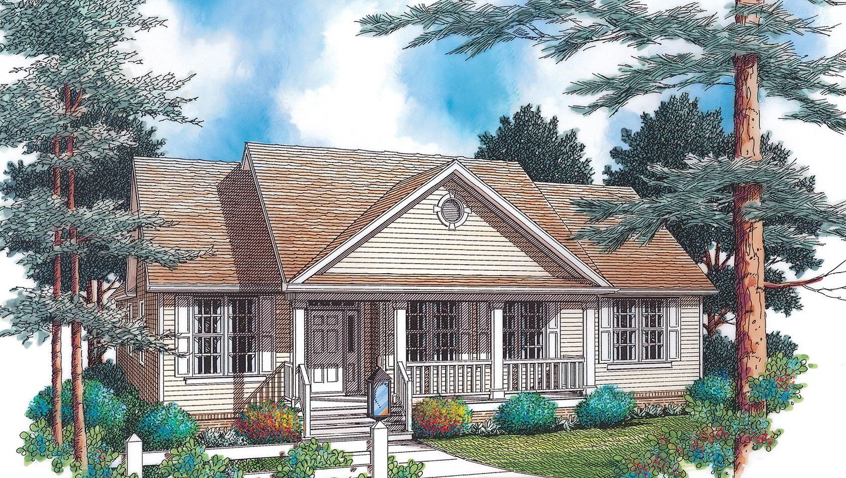 Mascord House Plan 1142: The Southwood