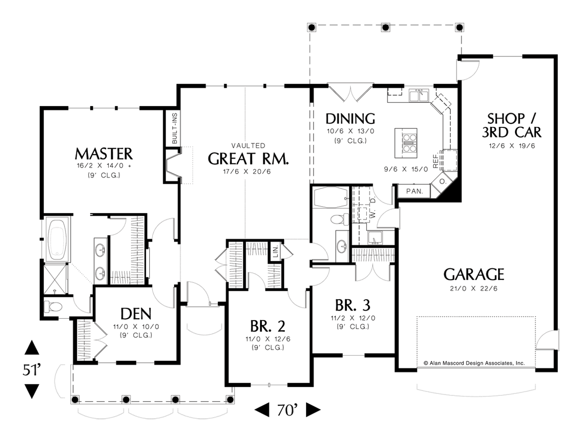Image for Riverton-Vaulted Ceiling and Extra Garage Space-Main Floor Plan