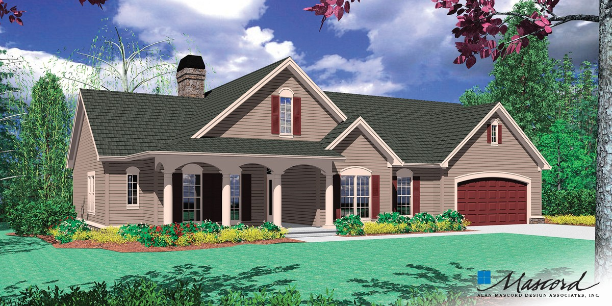 Image for Riverton-Vaulted Ceiling and Extra Garage Space-Front Rendering
