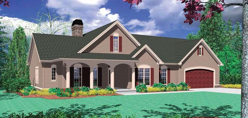 Mascord House Plan B1144B: The Riverton