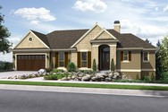 Front Rendering of Mascord House Plan 1144EA - The Tumalo