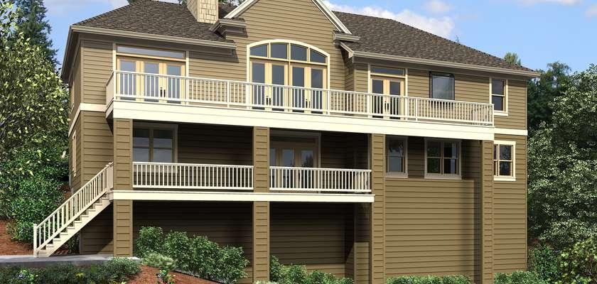 Mascord House Plan 1144EA: The Tumalo