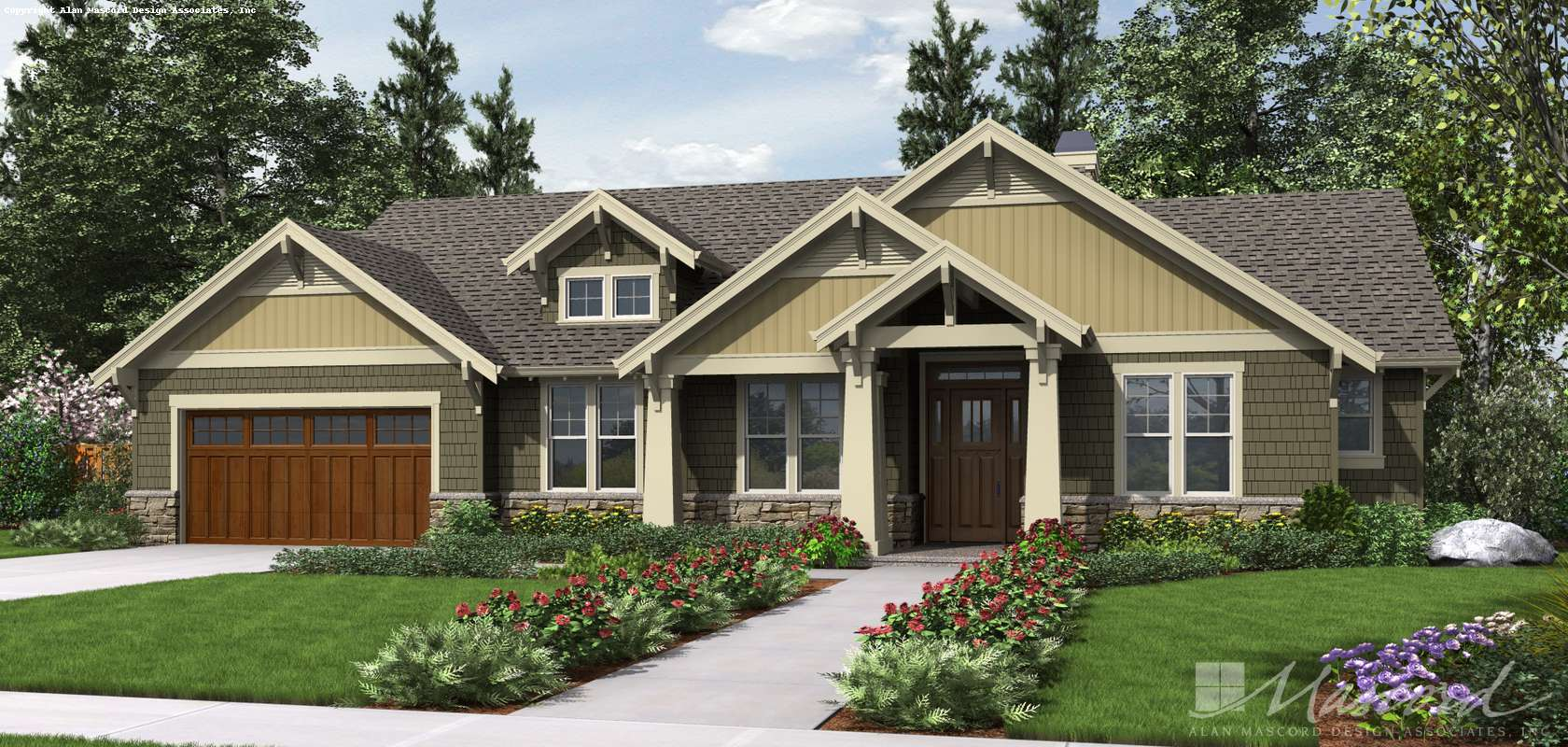 Mascord House Plan 1144EB: The Umatilla