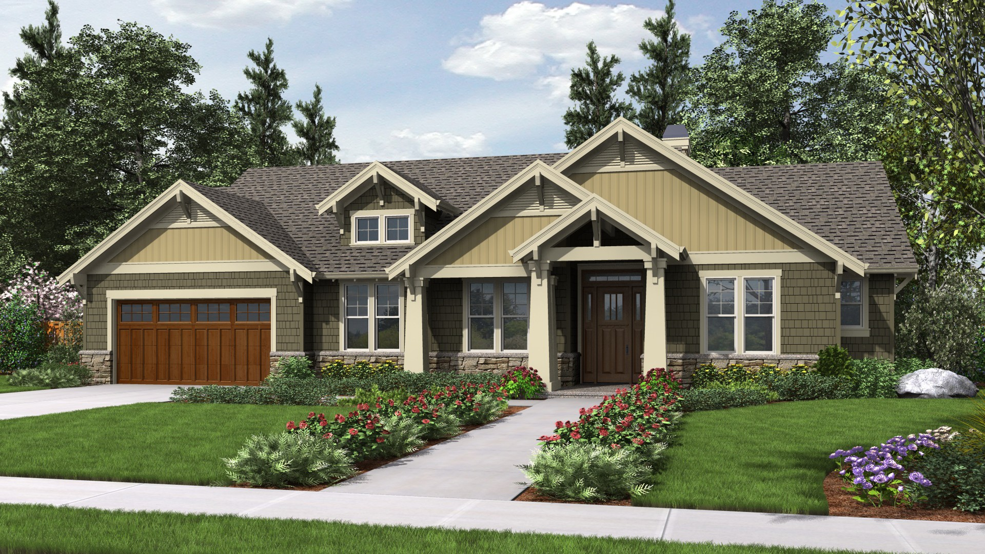craftsman house plans with basement craftsman house plan 1144eb the umatilla 1868 sqft 3 beds 2 baths 2373