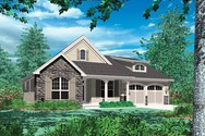 Front Rendering of Mascord House Plan 1146 - The Godfrey