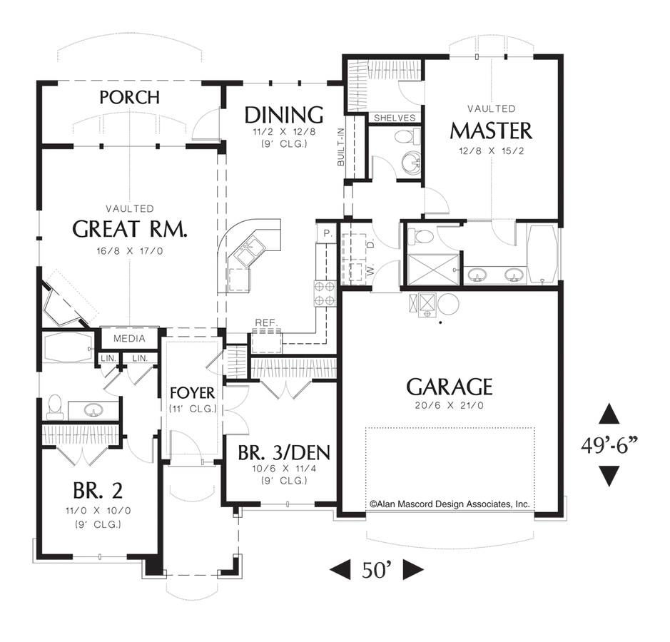 Garage Plans Blueprints 26 X 36 3 Car Traditional: Craftsman House Plan 1146A The Reagan: 1580 Sqft, 3 Beds