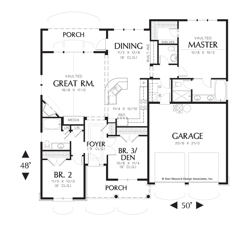 Mascord House Plan 1146 - The Godfrey