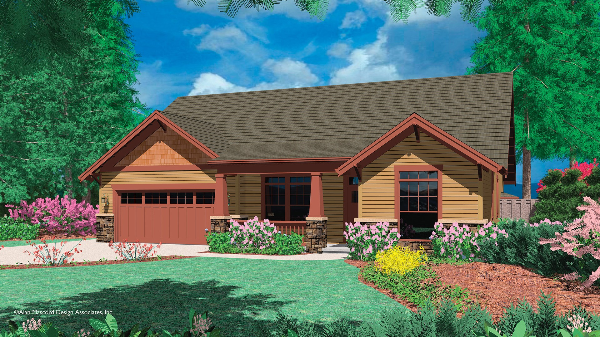 Cottage House Plan 1147A The Garnet: 1683 Sqft, 3 Beds, 2