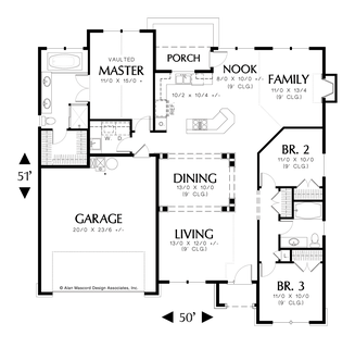 Mascord house plan 1147 the brookings for Functional house plans