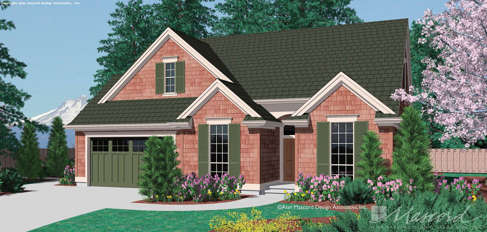 Mascord House Plan B1148: The Glenview
