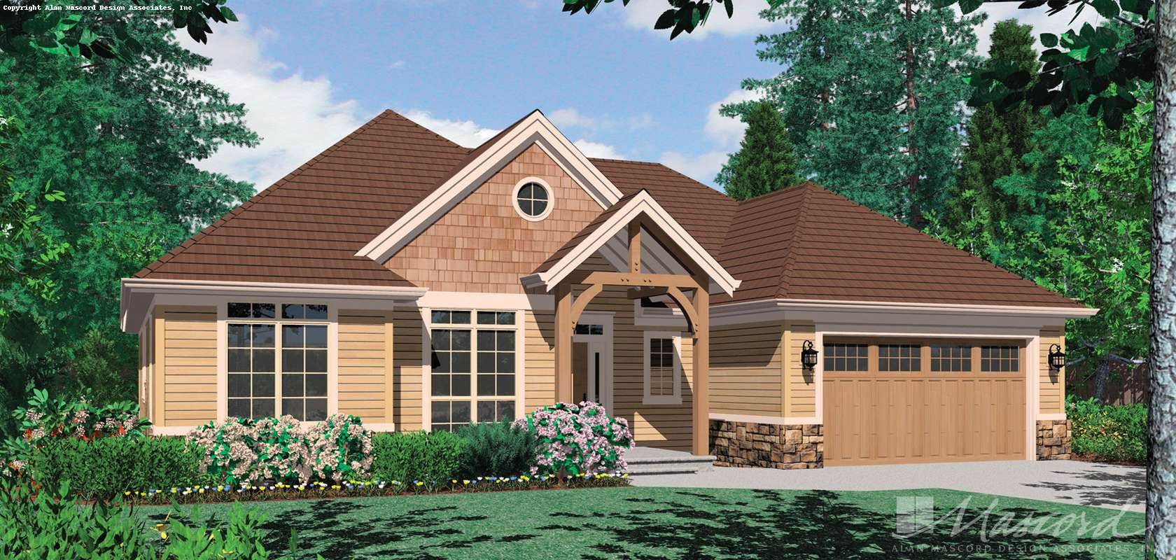 Mascord House Plan B1149B: The Pendleton