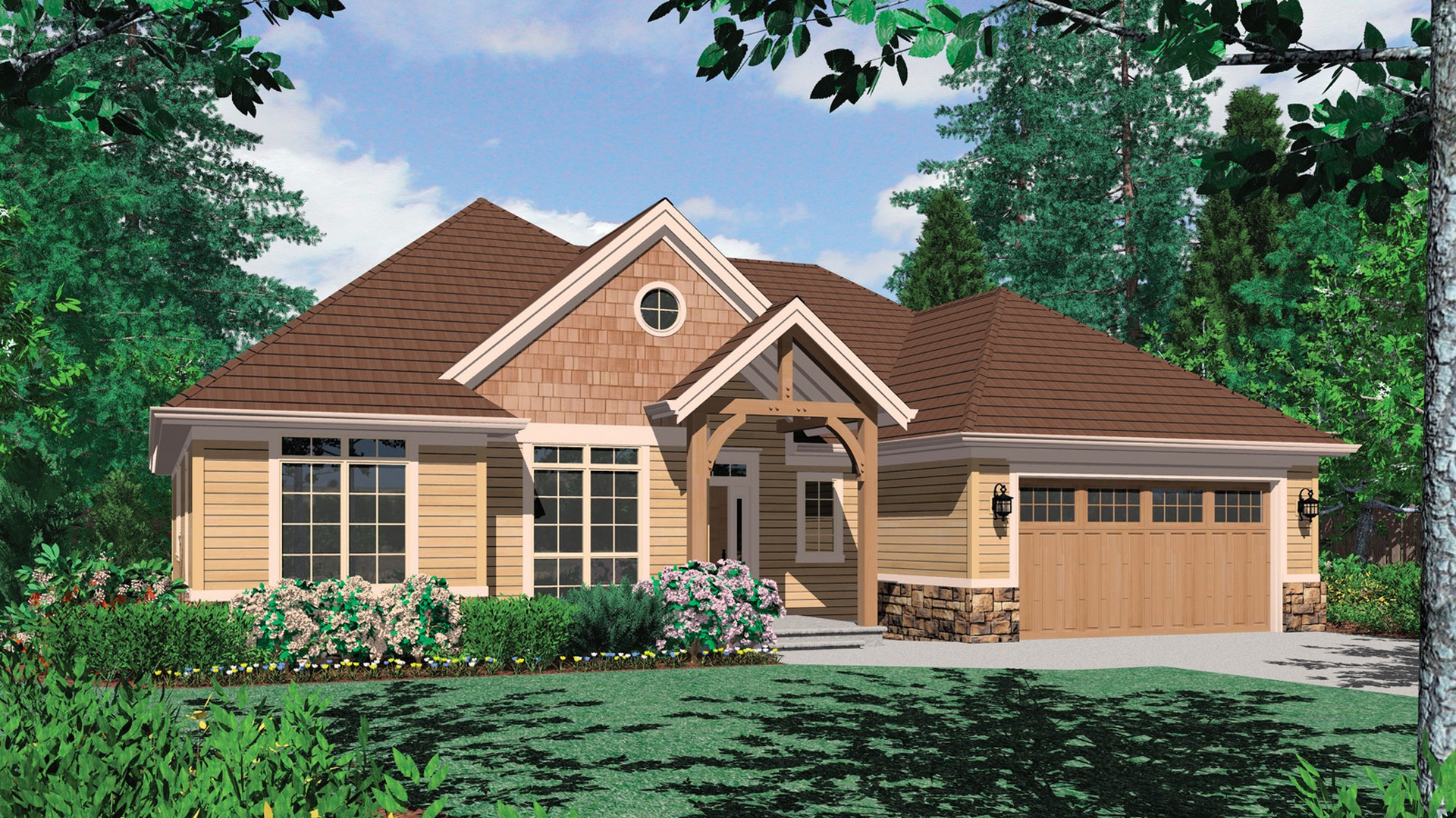 Craftsman house plan 1149b the pendleton 1817 sqft 3 for House plans co