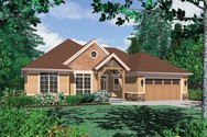 Front Rendering of Mascord House Plan 1149B - The Pendleton