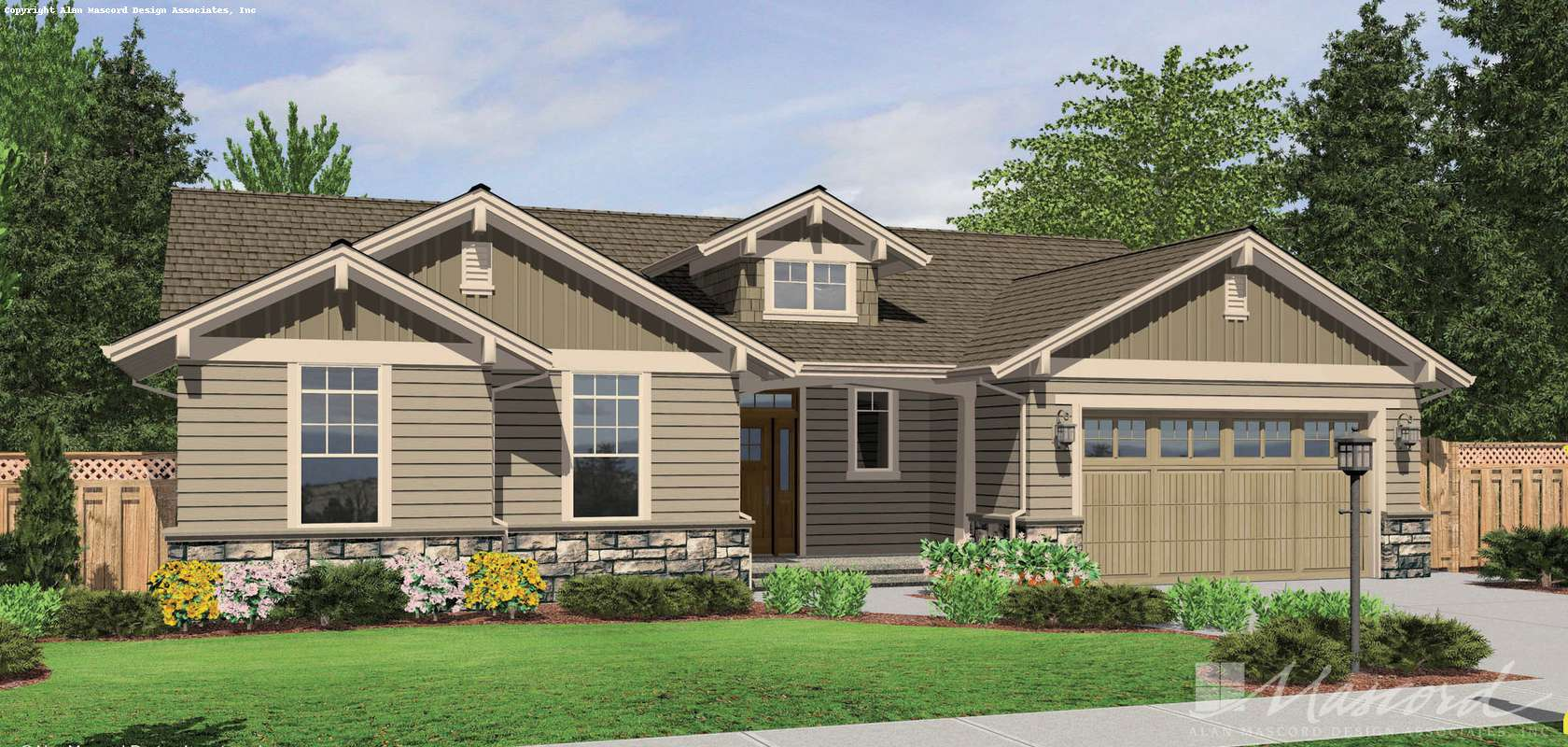 Mascord House Plan 1149C: The Avondale