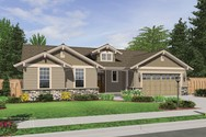 Front Rendering of Mascord House Plan 1149C - The Avondale