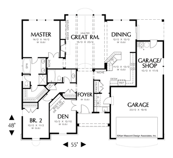 Image for Hayword-Vaulted Great Room Plan with Light-Main Floor Plan