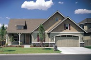 Front Exterior of Mascord House Plan 1150 - The Lindley