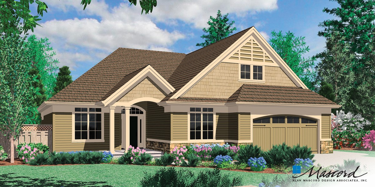 Image for Calloway-Cottage Style Home with Vaulted Great Room and Fireplace-Front Rendering