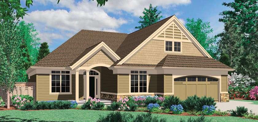 Mascord House Plan 1150A: The Calloway